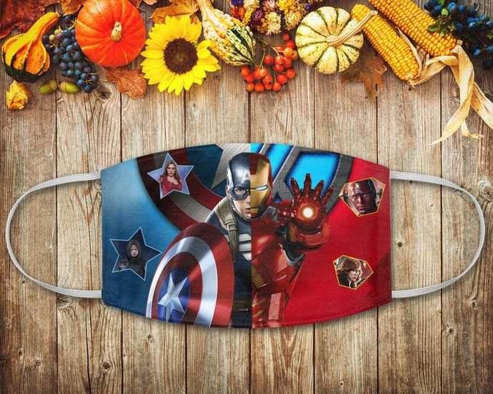 Iron Man Captain America Mask, Avengers Mask, Marvel Fans Mask, Marvel