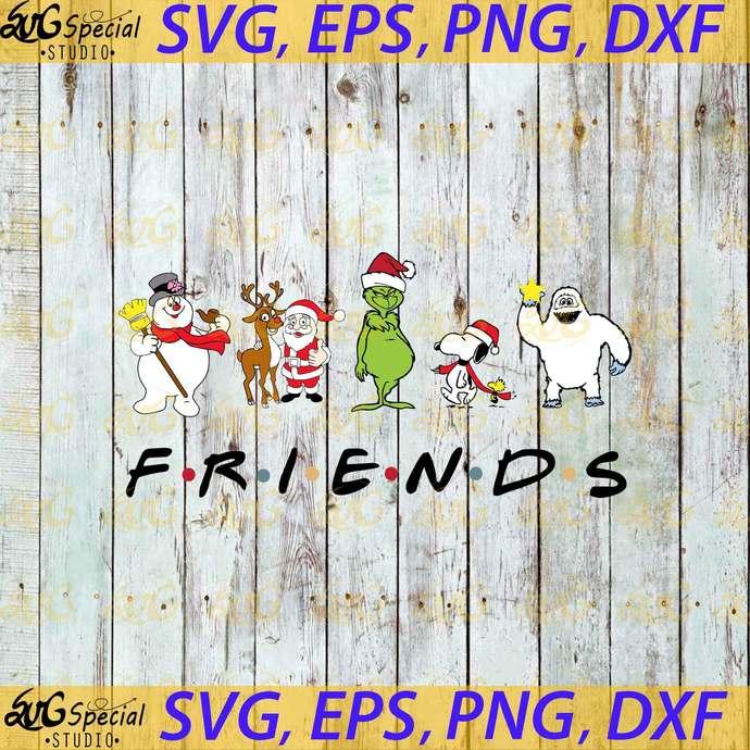 Friends Chirstmas Svg, Cricut File, Clipart, Grinch Svg, Santa Svg, Deer Svg,