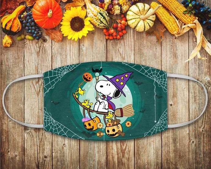Snoopy Witch Face Mask, Snoopy Woodstock, Snoopy Lover, Peanuts Fan Gift, Disney