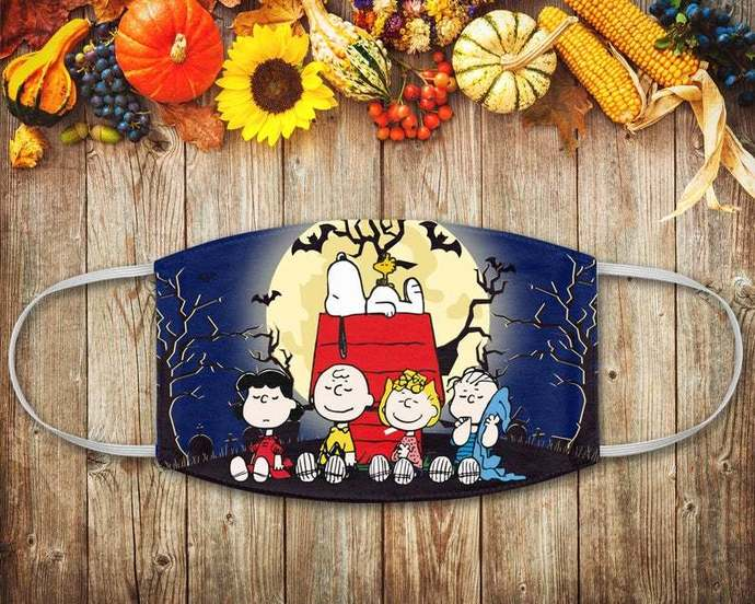 Snoopy and Friends Face Mask, Halloween Snoopy, Charlie Snoopy Woodstock,