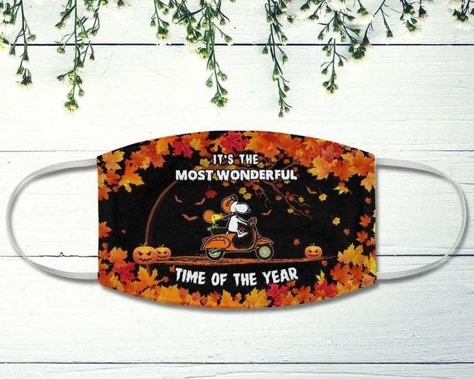 Snoopy Woodstock Scooter Bike Mask, It's The Most Wonderful Time Of The Year,