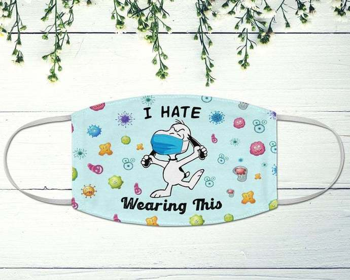 Snoopy I Hate Wearing This Face Mask, Snoopy Quarantine, Social Distancing,
