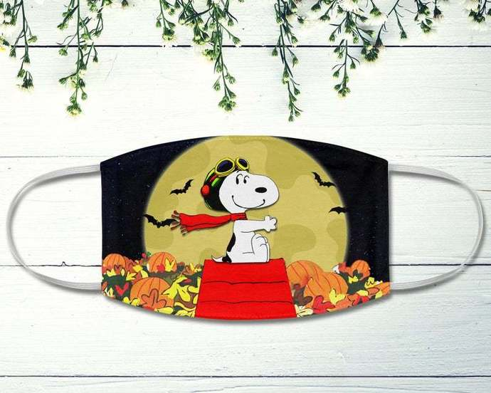 Snoopy Pilot Face Mask. Halloween Face Mask, Great Pumpkin Believer, Snoopy