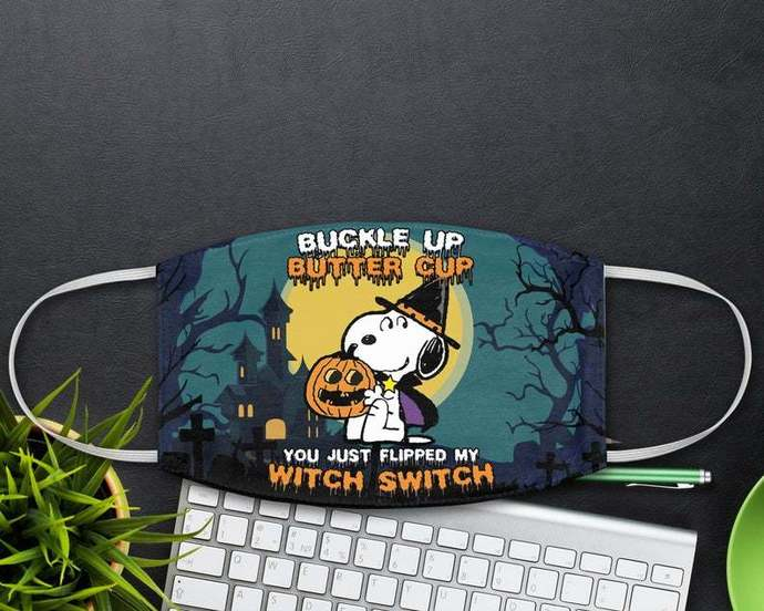 Snoopy Witch Switch Face Mask, Peanuts Fans Gift, Halloween Snoopy Mask, Disney