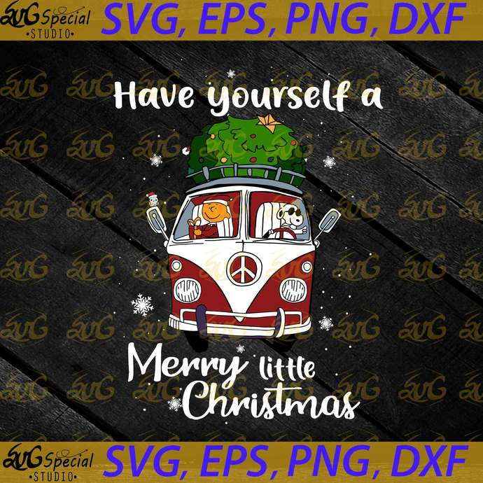 Have Yourself A Merry Little Christmas Svg, Cricut File, Clip Art, Volkswagen