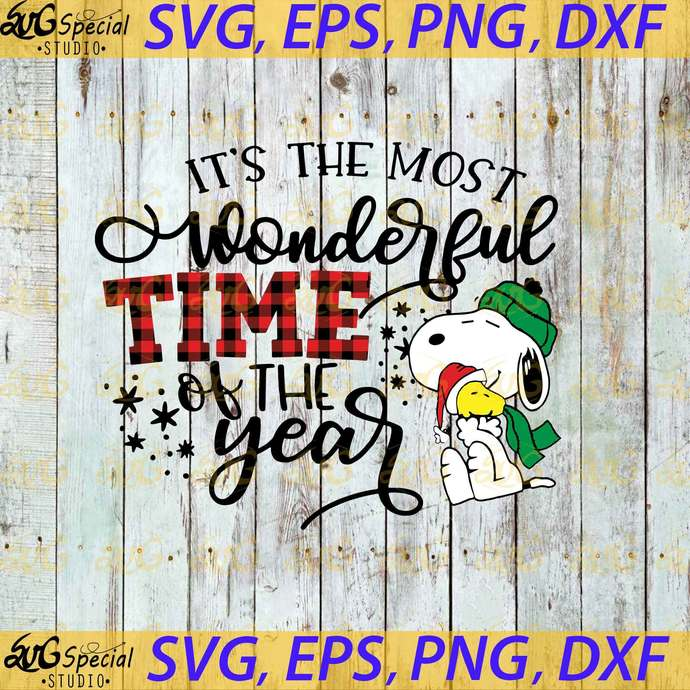 It's The Most Wonderful Time Of The Year Svg, Christmas Svg, Snoopy And Peanut
