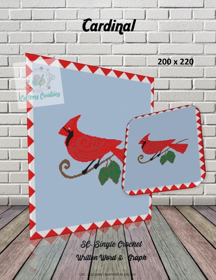 Cardinal Crochet Written Word and Blocks Design