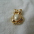 vintage Trifari signed gold pearls owl pin NOS
