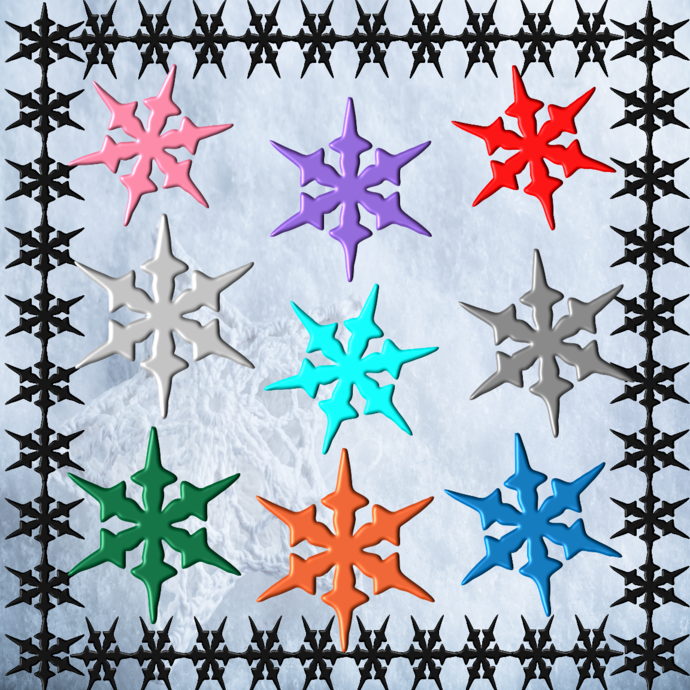 Snowflakes S1-Digital ClipArt-Fonts-Art Clip-Gift