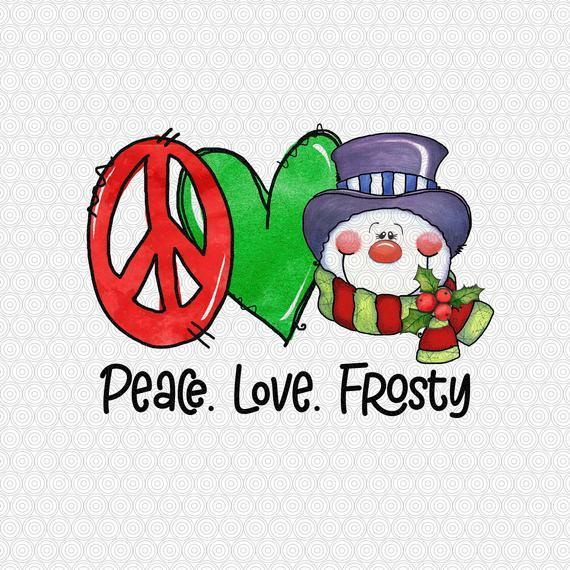 peace love frosty png snowman png by christmas store on zibbet peace love frosty png snowman png christmas png cute christmas png merry christmas png xmas png digital print file sublimation7472703