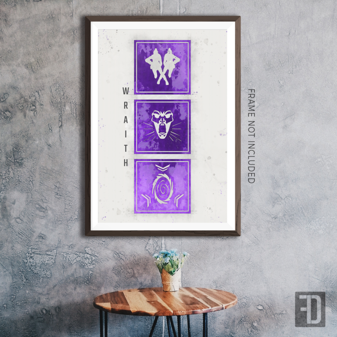 Apex Legends - Wraith Abilities Art Print