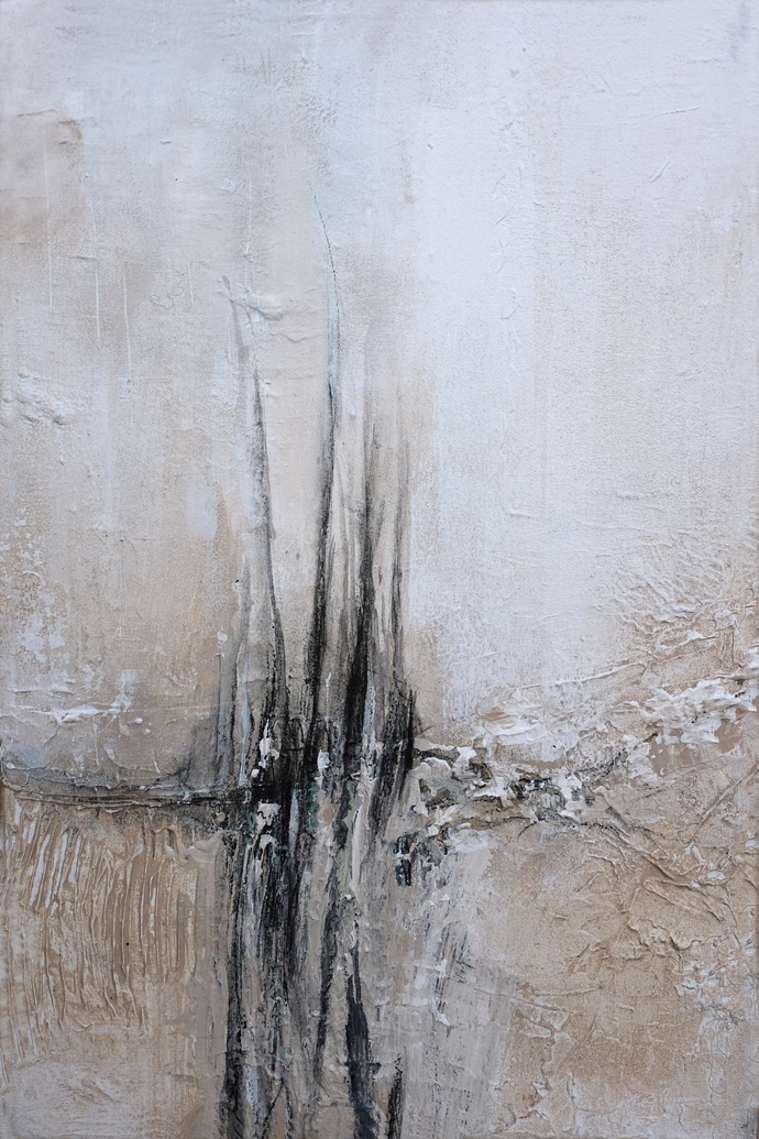 Copy of abstract painting, canvas art, white painting , small painting, modern