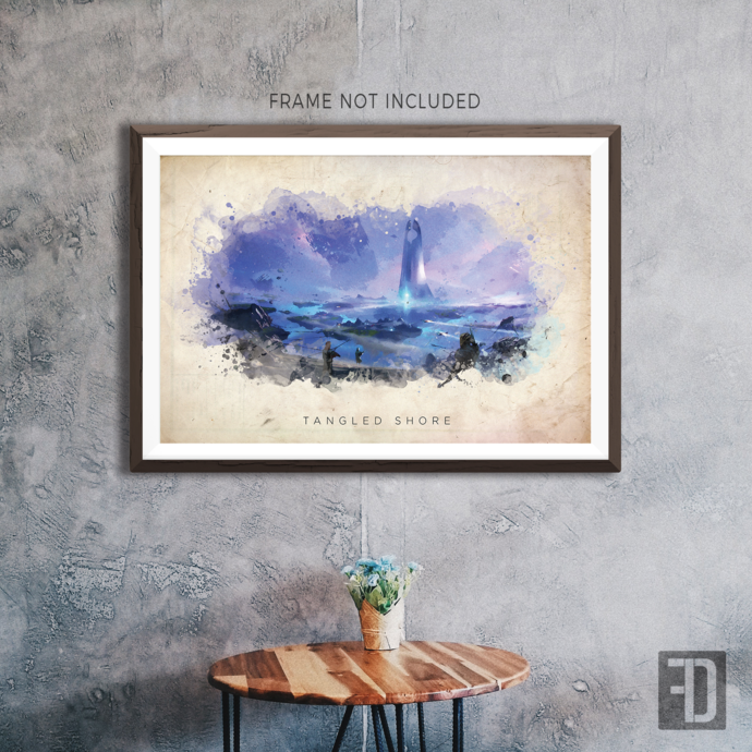 Destiny - Tangled Shore Watercolor Abstract Art Print