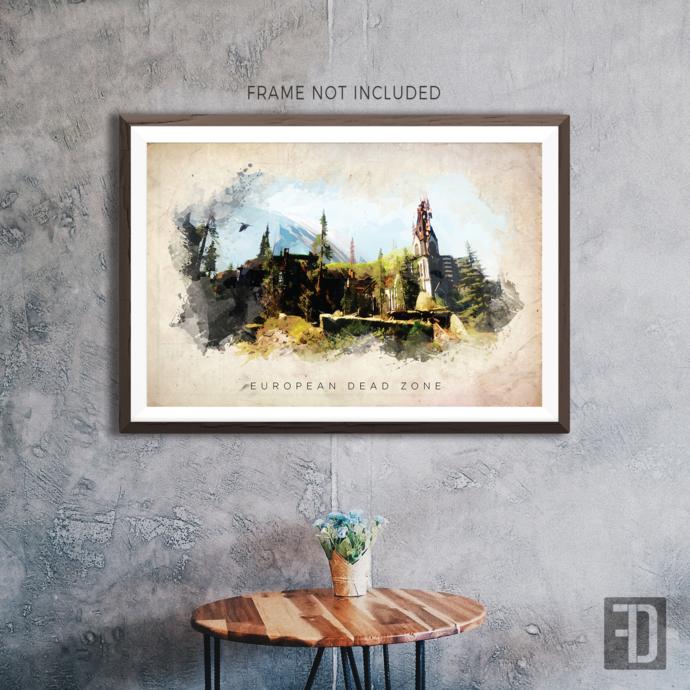Destiny - European Dead Zone Watercolor Abstract Art Print