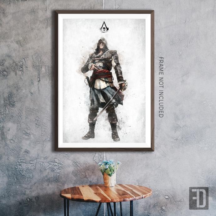 Assassin's Creed Black Flag - Edward Kenway Art Print