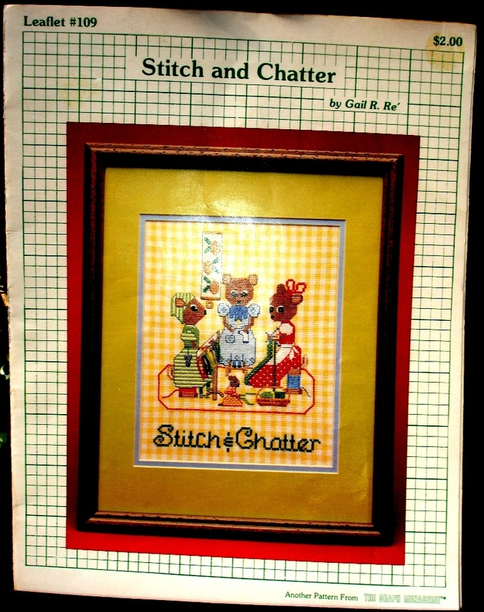 Stitch And Chatter Vintage Counted Cross Stitch Pattern