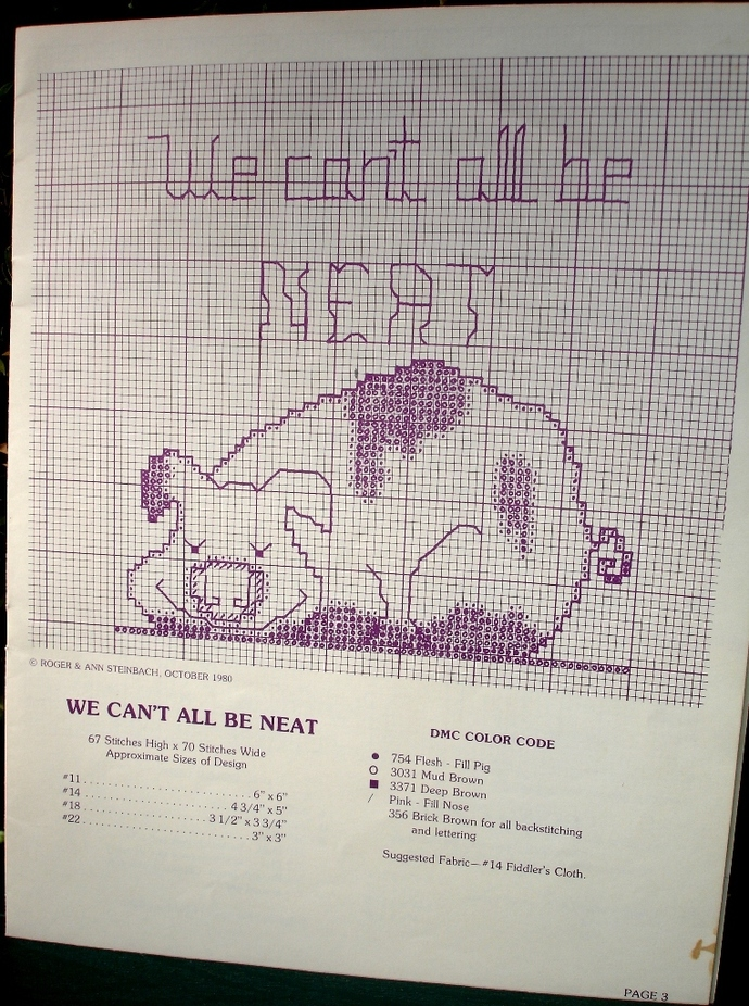 Piggables Vintage Counted Cross Stitch Pattern Book 7