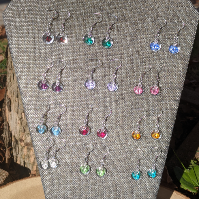 Handmade Crystal Birthstone Earrings