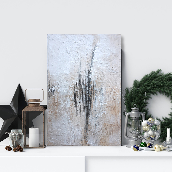 Copy of Copy of abstract painting, canvas art, white painting , small painting,