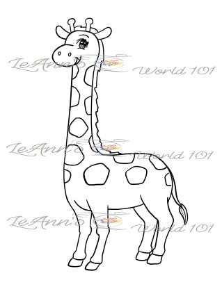 Giraffe - Digital Stamp