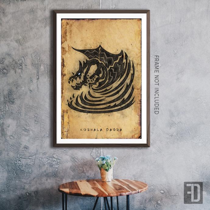 MHW - Kushala Daora Hunter's Notes Art Print
