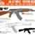 AK-47 vector desing,  svg, png, jpg, dfx, eps, cricut, cameo, weapom desing,