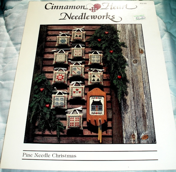Pine Needle Christmas Cross Stitch Graph by Cinnamon Heart Needleworks
