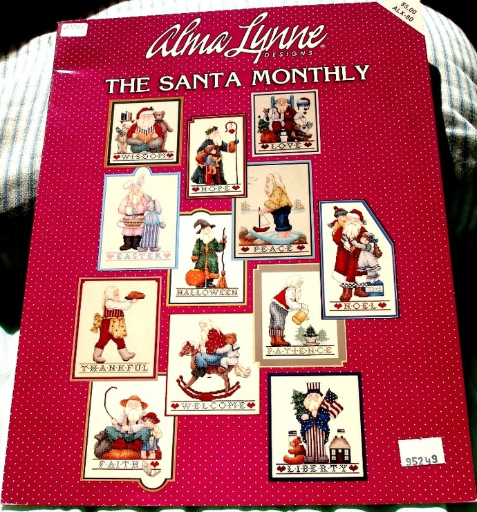 The Santa Monthly Cross Stitch Booklet By Alma Lynne Design ALX-80