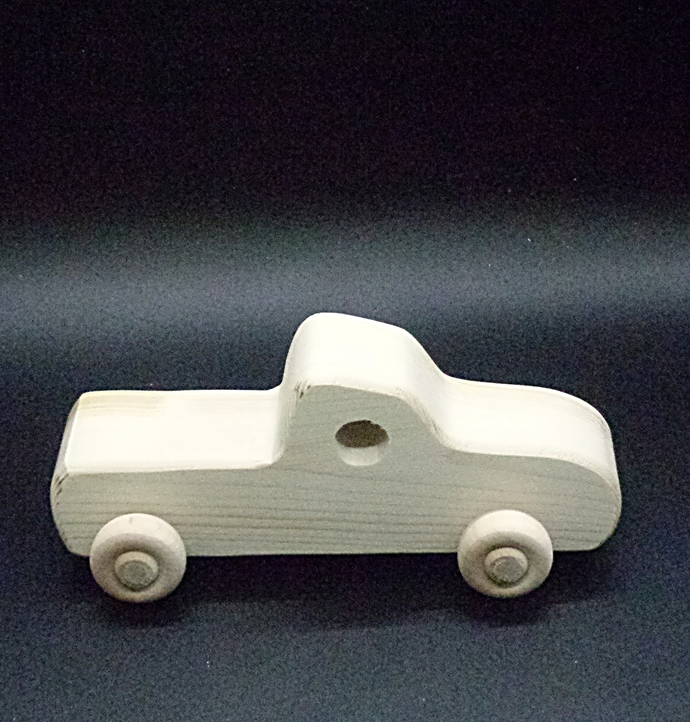Handcrafted Wood Toy Pickup 365CDH-U unfinished or finished