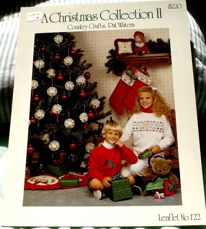 A Christmas Collection II Cross Stitch Country Craft By Pat Waters Leaflet No.