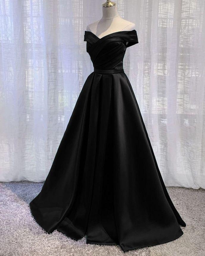 Elegant Off The Should A-Line Prom Dresses,Long Prom Dresses,Cheap Prom Dresses,