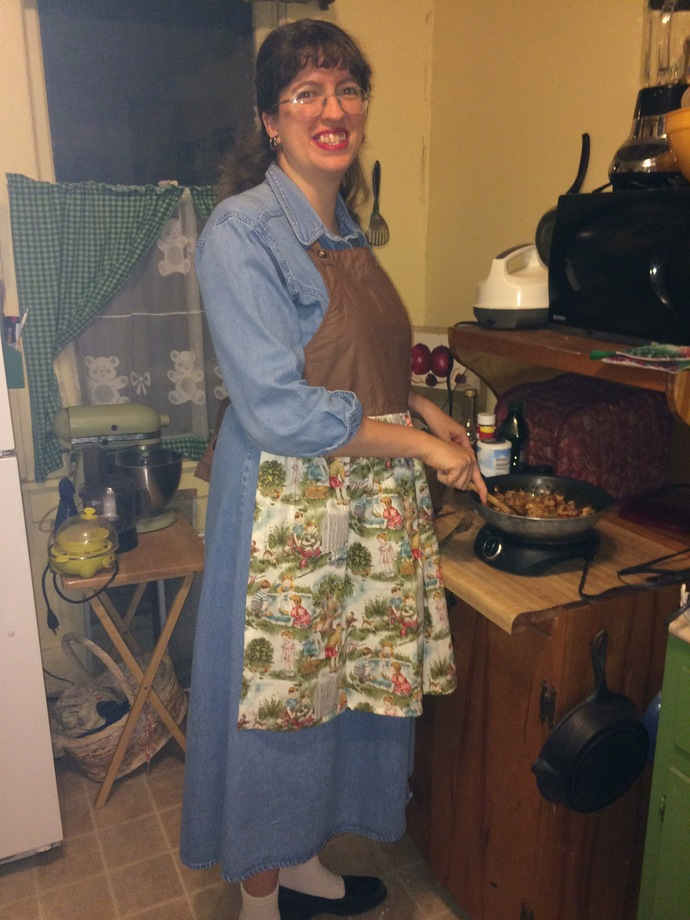 Ladies Brown Retro  Apron
