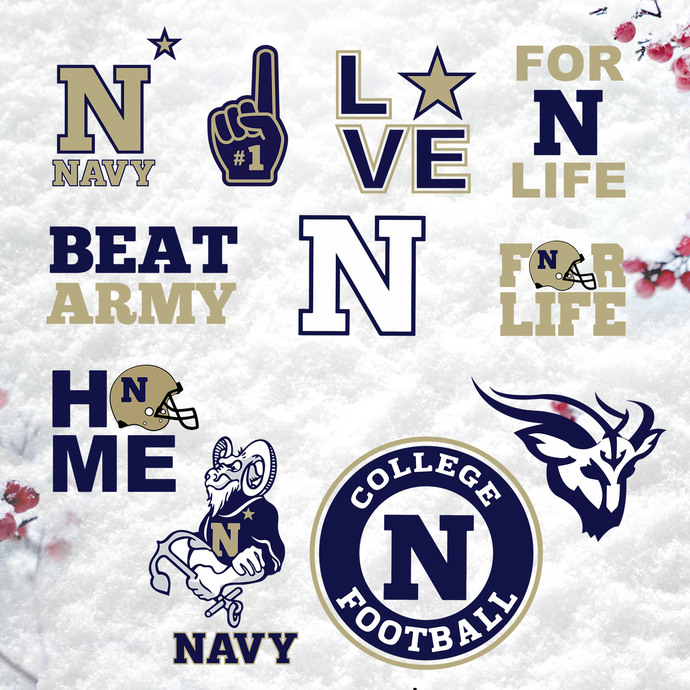 Bundle 11 files Navy Midshipmen Svg, Navy Midshipmen Svg, NFL Svg, NCAA Svg,