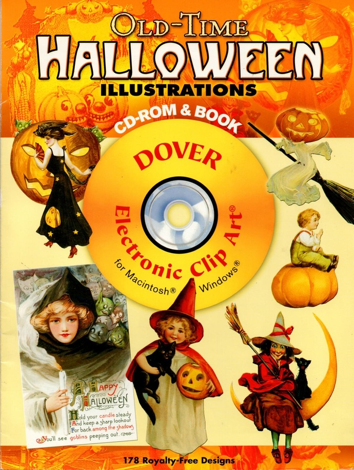 Old-Time Halloween Illustrations CD and Book Clip Art 2007 Dover 178 Designs