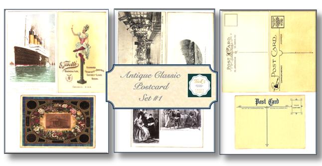 Set#1-Antique Classic Postcard