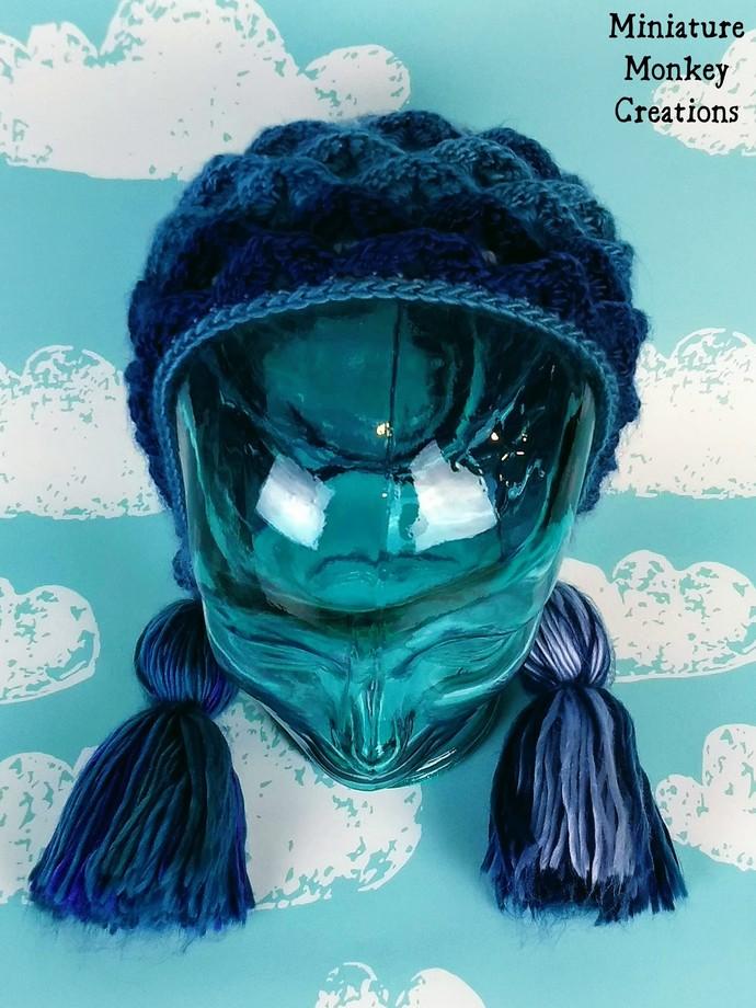 Dragon Scale Hood in Blues