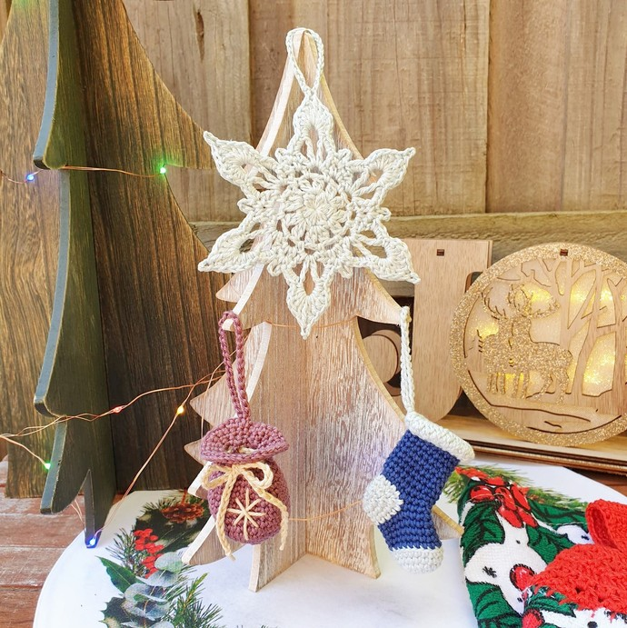 Christmas Crochet: Snowflake Ornament - PDF Download Only