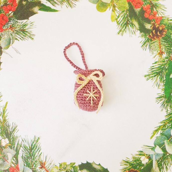 Christmas Crochet: Santa's Sack Ornament - PDF Download Only