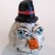 A winter friend - snowman gourd - paperclay - I Love Cold Weather decoration