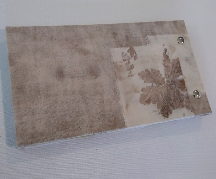 Handcrafted Notepad with cover from eco-printed cloth