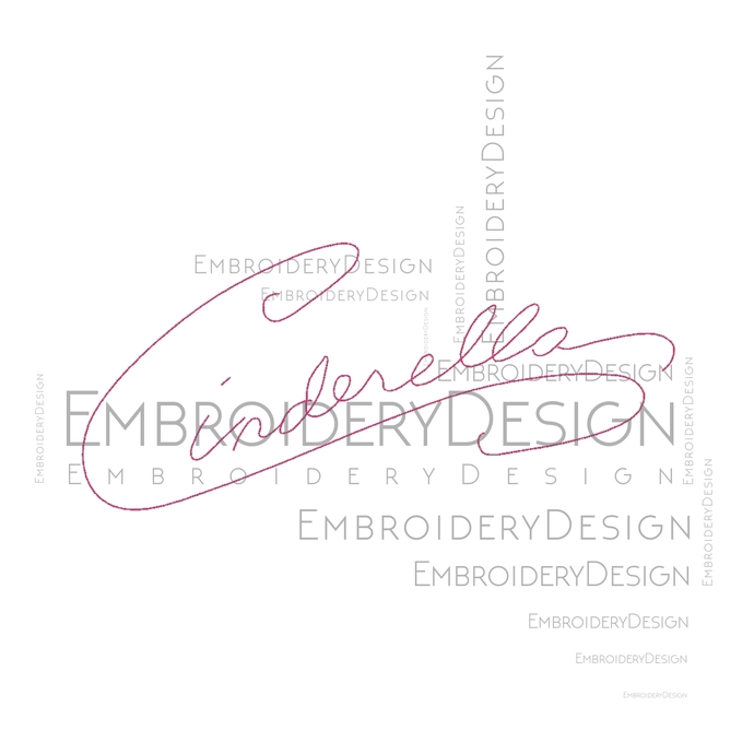 Cinderella Autograph disney Embroidery Machine Designs Instant Digital Download
