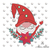 Christmas gnome embroidery machine designs winter instant digital download
