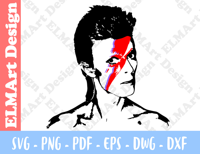David Bowie Bowie Clipart 6 Format Files Vector Svg Png Pdf Eps Dwg Dxf Instant