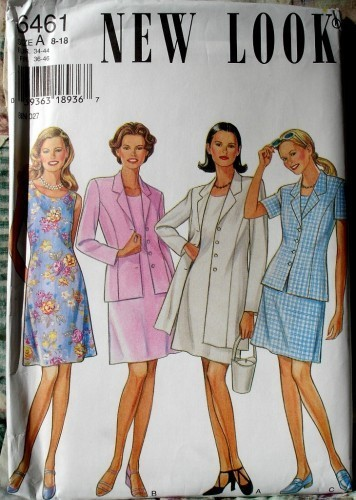 New Look 6461 Princess Seamed Jacket And A Line Princess Seamed Dress