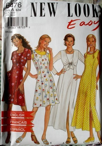New Look 6476 Misses Princess Seamed Dress In Two Lengths And Jacket