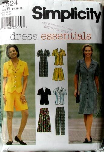 Simplicity 7524 Princess Seamed Dress Top Skirt Pants And Shorts