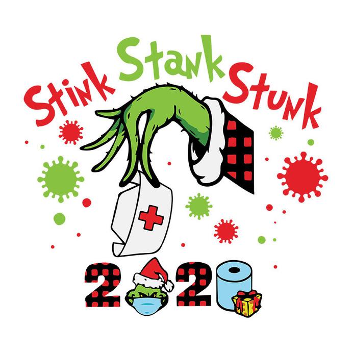 2020 Stink Stank Stunk Mask Grinch Hand By Bellashop On Zibbet