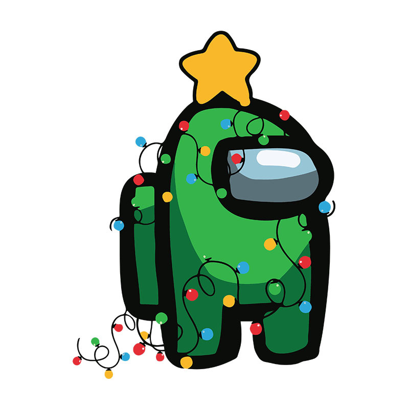 Among Christmas Svg, Green Among Us Imposter by BellaShop on Zibbet