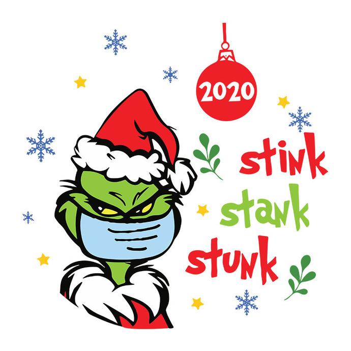 Grinch Christmas 2020 Stink Stank Stunk Svg, The by BellaShop on