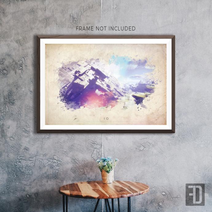 Destiny - Io Watercolor Abstract Art Print